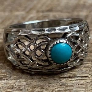 Wheeler Navajo Sterling Silver Turquoise Ring